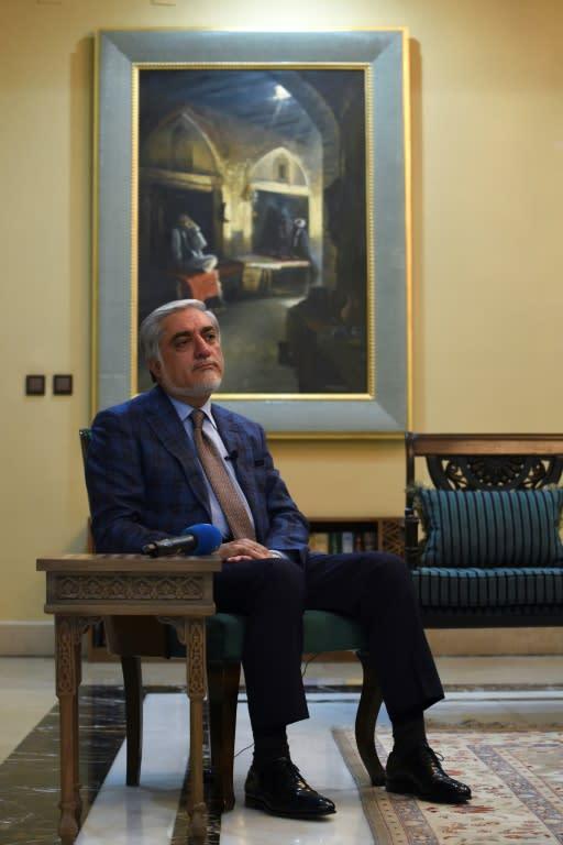 "Afghan Chief Executive Abdullah Abdullah dismissed a new peace proposal by President Ashraf Ghani as an unrealistic ""wishlist"" (AFP Photo/WAKIL KOHSAR)"