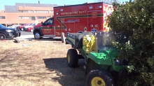 Teacher breaks both legs after being hit by John Deere utility vehicle during horticulture class