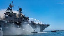 Stubborn fire aboard U.S. Navy warship in San Diego injures 21 people