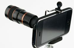 Photojojo provides a convenient telephoto lens for iPhone