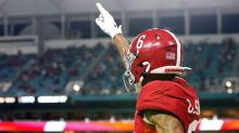 Devonta Smith declines to be weighed and measured at the Senior Bowl
