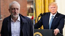 Corbyn accuses Trump of interfering in election after he says Nigel Farage and Boris Johnson are an 'unstoppable force'