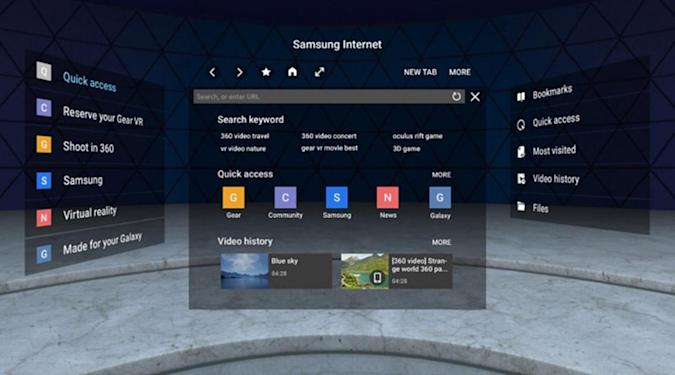 Samsung's Gear VR browser gets improved WebVR content support