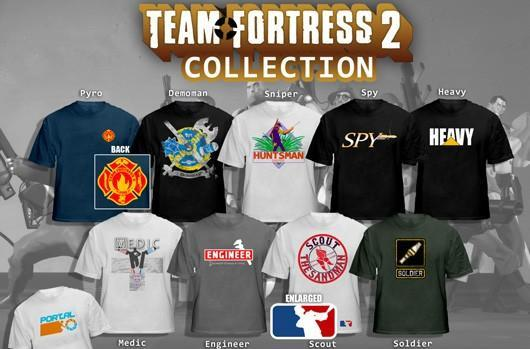We wish these Team Fortress 2 (and Portal) concept shirts were real