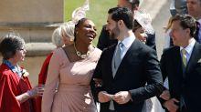Serena Williams luce tan enamorada como los novios en la boda real