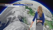 Tuesday: increasing clouds but low rain chances