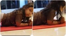 MS Dhoni's Daughter Ziva Gives Fitness Goals! Attempts Planks Like a Boss (Watch Video)