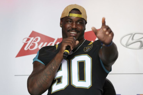 Malik Jackson paid the adoption fees for 181 homeless pets in Jacksonville. (AP)