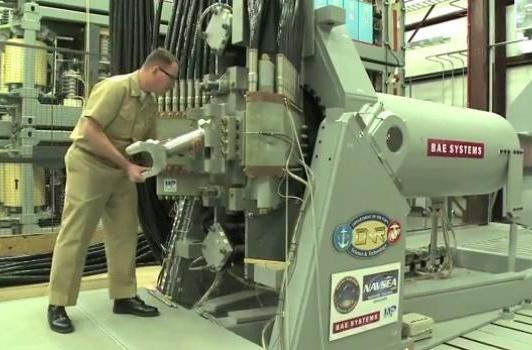 Watch the Navy's electromagnetic railgun blow stuff up before it hits the high seas