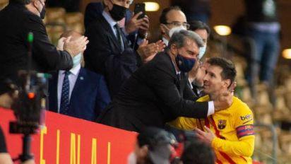 Foot - Barça - Joan Laporta, le président du Barça, est convaincu que Lionel Messi veut rester au club