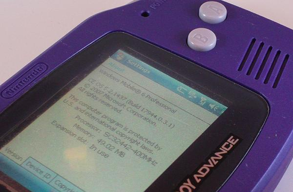 GameBoy Advance Phone caught in the wild (by the guy who built it)