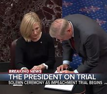 The start of Trump's impeachment trial had solemn oaths, 'lengthy' yawns, 'pained expressions,' lots of lefties