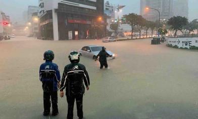 韓深夜po文 為淹水道歉了