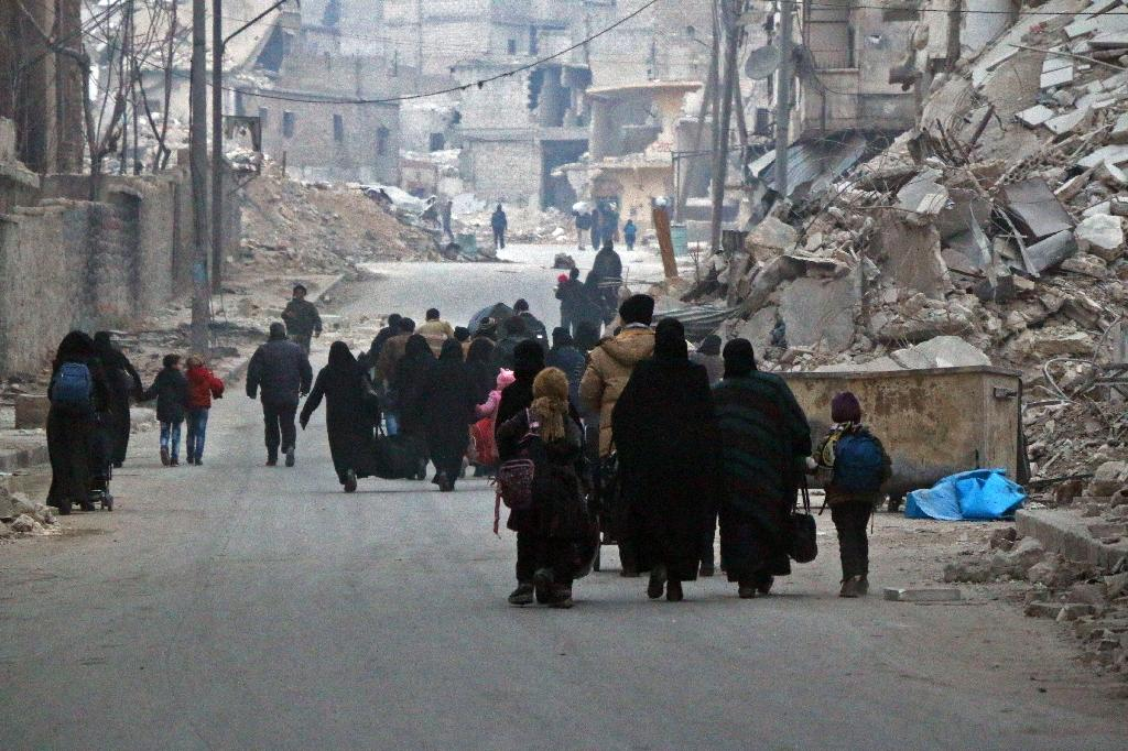 The case was brought by an Orthodox Christian couple who had fled with their three children from the Syrian city of Aleppo, where a government offensive late last year led to a mass exodus of civilians (AFP Photo/STRINGER)