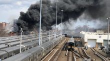 Trash plant fire in NY shuts down many Long Island train services