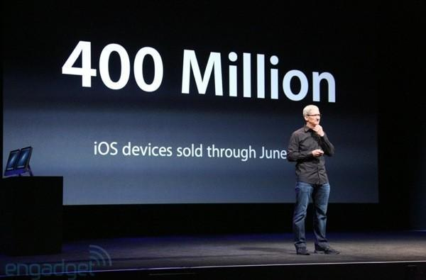 Apple counts 400 million iOS devices sold as of June