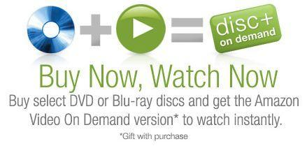 Amazon's Disc+ program tosses in a free VOD with your Blu-ray or DVD