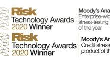 A Moody's Analytics venceu duas categorias na Premiação de Tecnologias de Risco por Soluções em Testes de Estresse