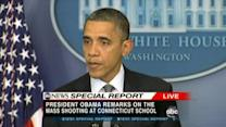President's remarks on Conn. school shooting