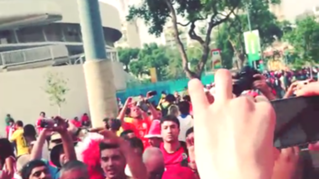 Chile Fans Rally Ahead of Match Against Spain