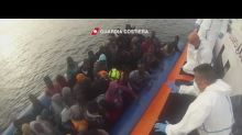 Italian Coast Guard Rescues Migrants From Overcrowded Boats