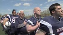 Phila. police, firefighters play football for a cause