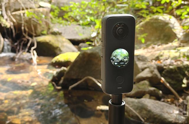 Insta360's One X2 includes a touchscreen to make panoramic captures easier