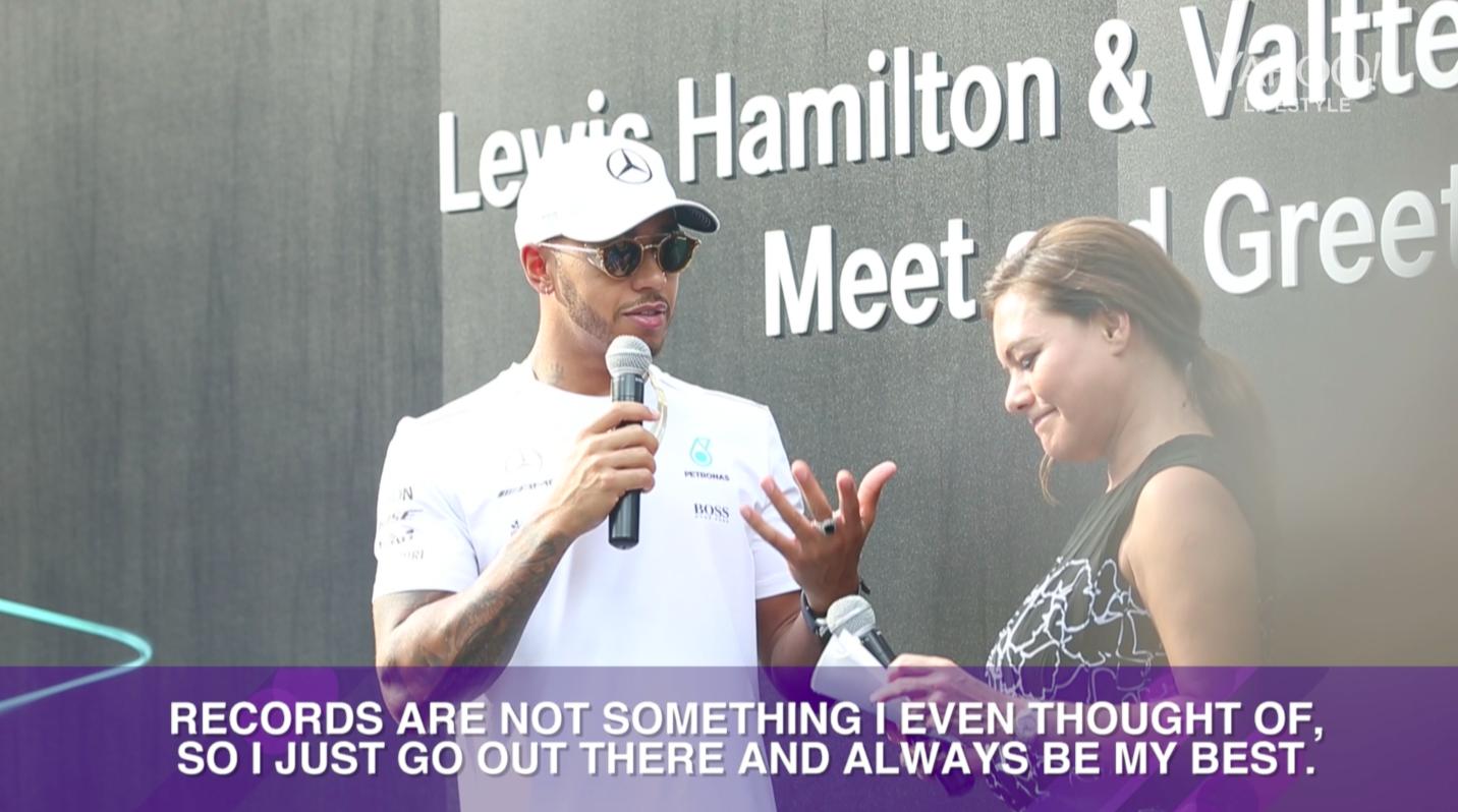 F1 Racers Lewis Hamilton Valtteri Bottas And Felipe Massa In