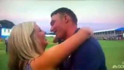 Golf champ brutally 'friend zoned' on live TV