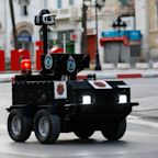 Police in Tunisia are using robots to patrol the streets to enforce a coronavirus lockdown — here's what they look like