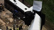 Bus Carrying Italian Tourists Crashes into Truck