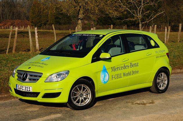 Mercedes-Benz completes hydrogen-powered F-Cell World Drive, but had to bring its own fuel
