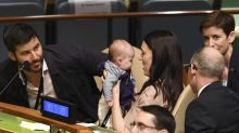 Jacinda Ardern makes history by bringing her newborn baby to the UN General Assembly