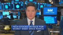 Tech stocks on pace for worst week since March