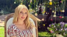 Emma Roberts received a vagina-inspired bouquet as a baby shower gift