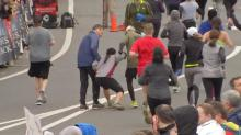 Watch: Heroic runners come to the rescue of exhausted woman during half marathon in Philadelphia