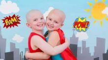 Crianças vítimas do câncer fazem ensaio tocante como super-heróis