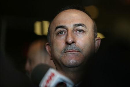 Turkish Foreign Minister Mevlut Cavusoglu speaks to the press after the United Nations General Assembly emergency special session on U.S. President Donald Trump's decision to recognize Jerusalem as Israel's capital in New York