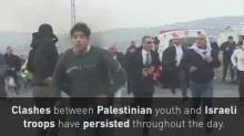 Clashes with Palestinian youth and Israeli troops