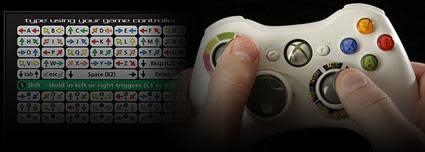Texter turns Xbox 360 controller into keyboard, sorta