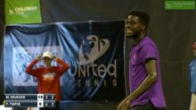 X-rated moment interrupts tennis match