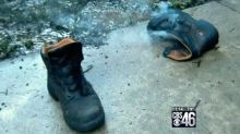 Man survives lightning strike that knocks him clear out of his boots