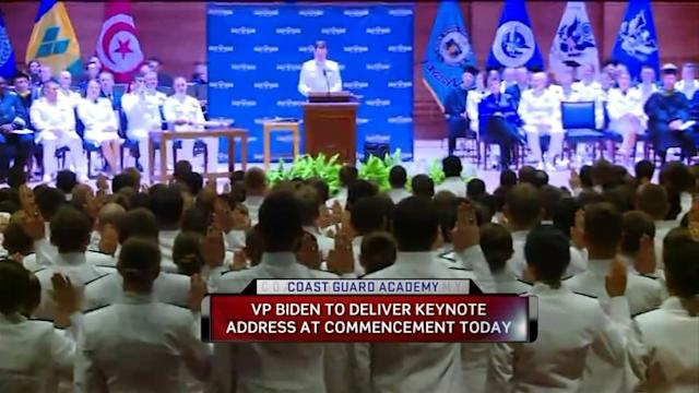 Vice President Biden Heads To Connecticut To Speak At The Coast Guard Academy