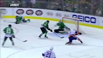 Tavares rips a one-timer from one knee