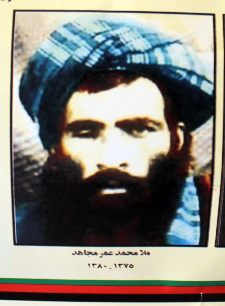 The Afghan Taliban's deceased leader Mullah Omar. The Taliban named Mullah Akhtar Mansour as their new leader on July 31, 2016 (AFP Photo/Javed Tanveer)
