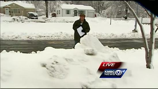Shovels, snowblowers busy in many KC neighborhoods