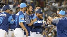 Lights on, walk off: Dodgers get winning hit on first pitch after stadium power outage