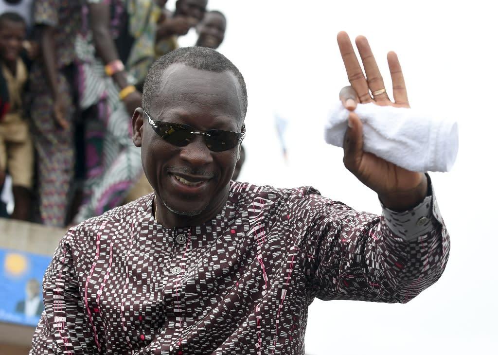 Businessman Patrice Talon was sworn in as Benin's new president at the Charles de Gaulle stadium in the capital Porto-Novo (AFP Photo/Pius Utomi Ekpei)