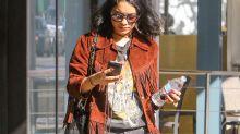Street Style  Vanessa Hudgens: look rockero y casual