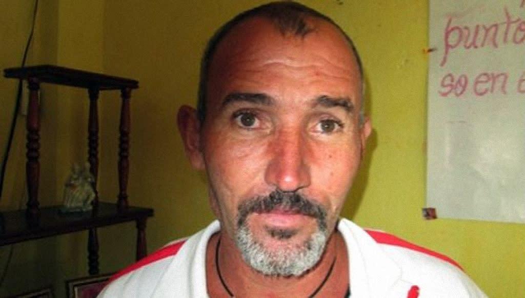 Picture taken in 2013 in Santa Clara, Cuba, released by Vladier Morera Herrera showing his father, Cuban dissident Vladimir Morera Bacallao